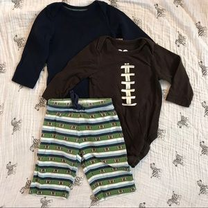 🌺 Football Onesie Outfit
